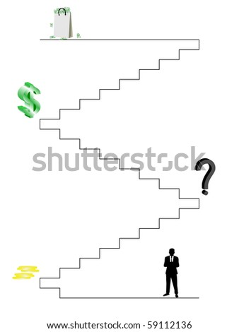 Business trip to success - stock photo
