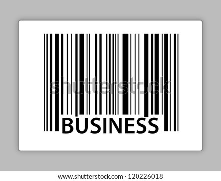 business upc code illustration design over white - stock photo