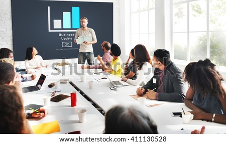 Business Update Graph Chart Graphics Concept - stock photo