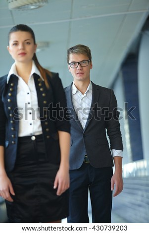 business woman and businessman