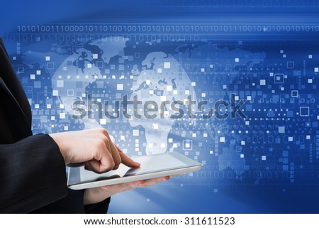 Business woman are using digital tablet