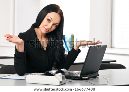 Business woman at her workplace