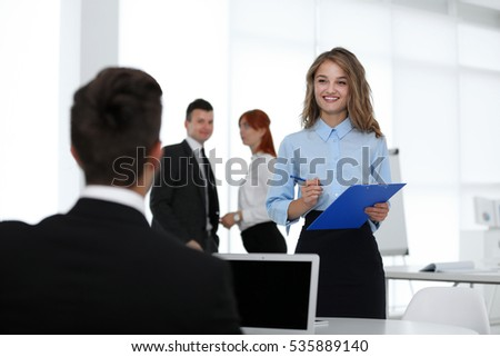Business woman at modern office