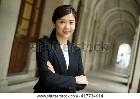 Business woman at outdoor - stock photo