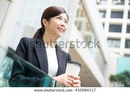 Business woman at outdoor