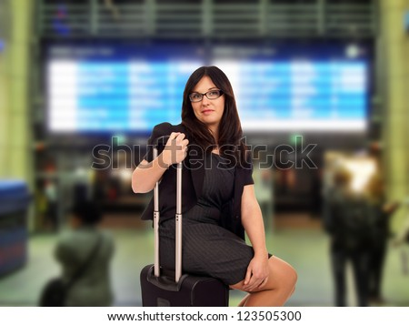 Business woman at the airport / Business woman - stock photo