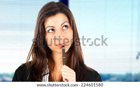 Business woman having an idea - stock photo