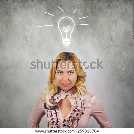 Business woman having ideas