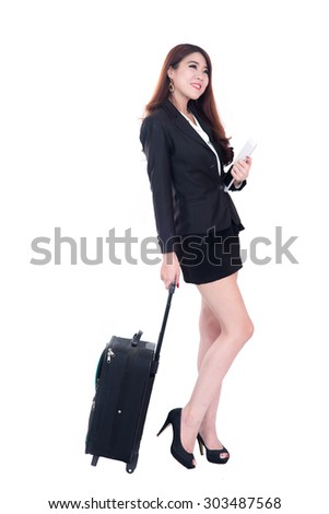 Business woman  holding computer tablet
