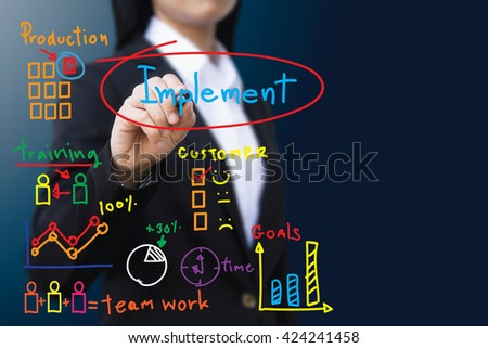 business woman , Implement concept - stock photo