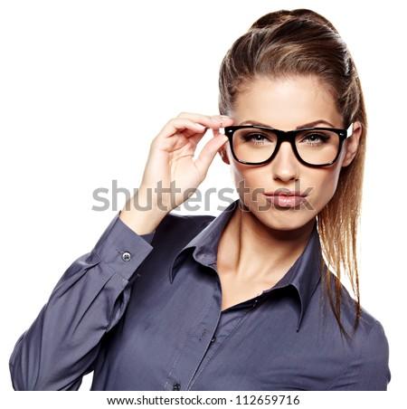business woman glasses stock photo 112659716 shutterstock
