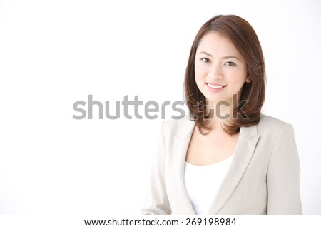 business woman isolated on white background - stock photo