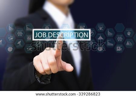 Business Woman , Job Description Concept