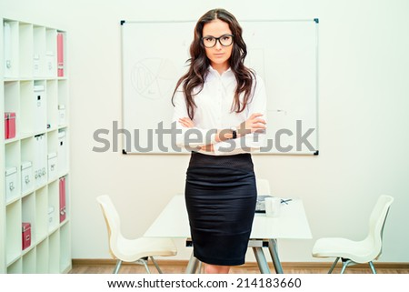 Business woman making a presentation at the office.  - stock photo
