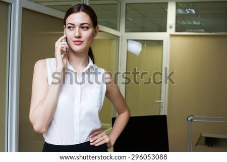 business woman office