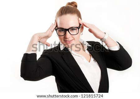 Business woman on a light background
