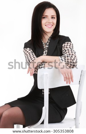 Business woman on chair