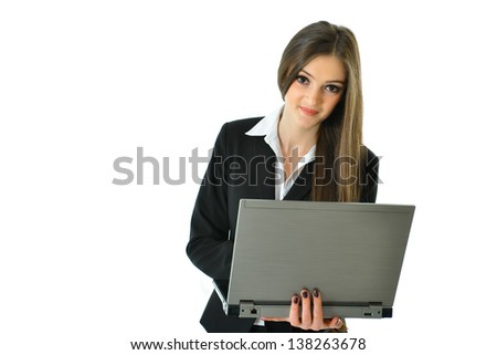 Business Woman on the Move - stock photo