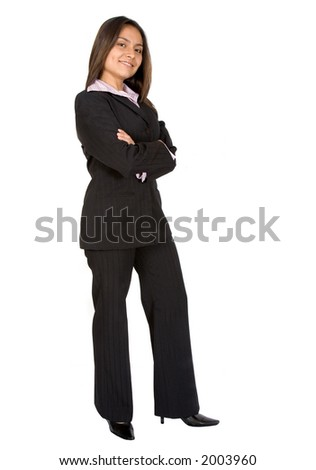 business woman over a white background - latin american origin