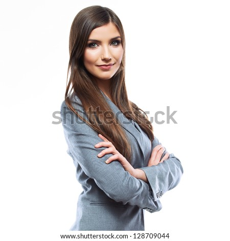 Business woman portrait . Crossed arms  .