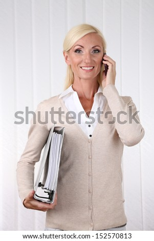 Business woman portrait in office