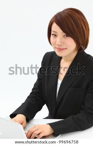 business woman. Portrait of asian woman. - stock photo