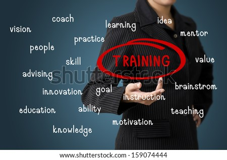 Business Woman Present Training Concept - stock photo