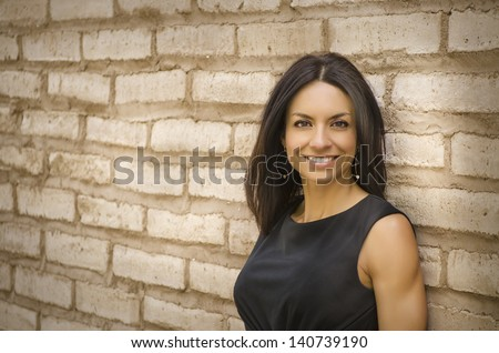 Business woman smiling - stock photo