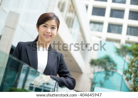 Business woman standing at outdoor