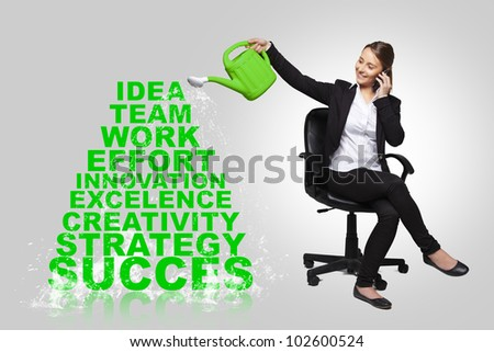 business woman - success business concept - stock photo