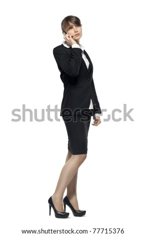 business woman talking on phone. see more on my page - stock photo