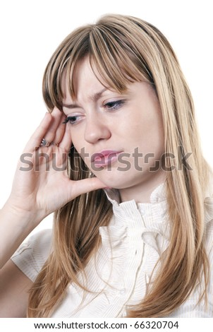 Business woman under stress - stock photo