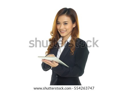 Business woman use of digital tablet