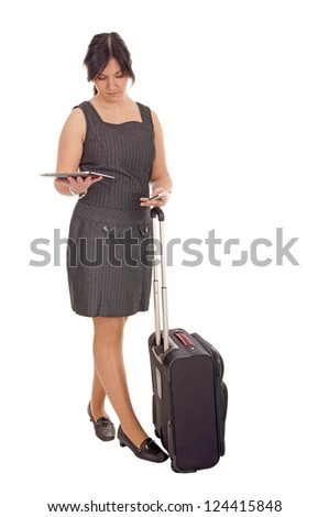 Business woman with mobile phone and tablet computer / Business Woman