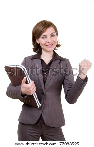 Business woman with notebook case