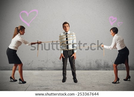 Business women contend the director of company - stock photo