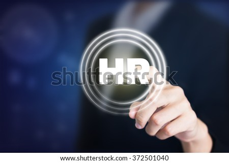 Business women holding posts in HR. Can be used in advertising. - stock photo