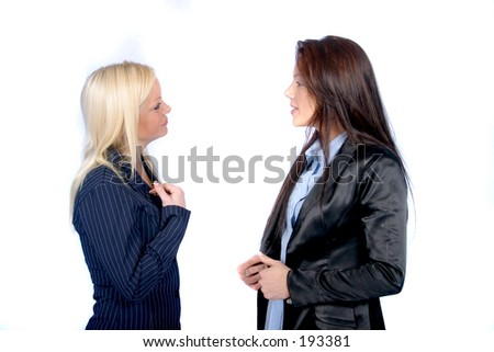 Business Women Talking
