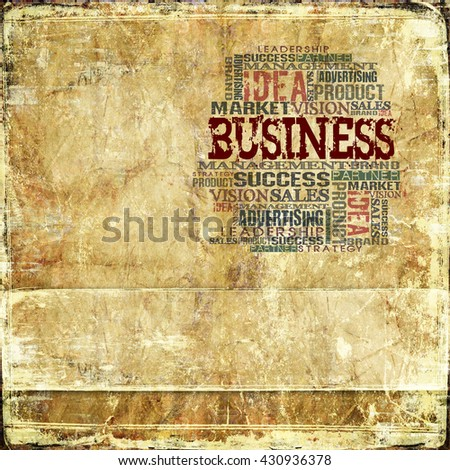 Business Word Cloud Concept Background with space for your text - stock photo