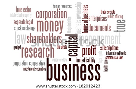 Business word cloud conceptual image