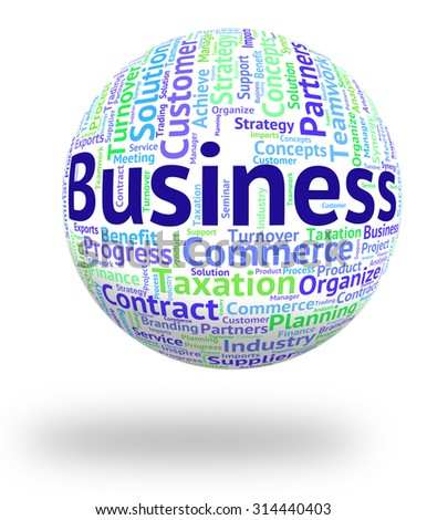 Business Word Representing Words Businesses And Commerce
