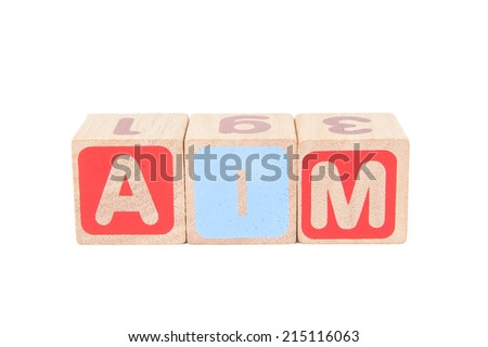 Business wording by wooden cube