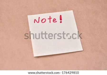 Business Wording on the sticky paper texture background