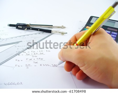 business work table - stock photo