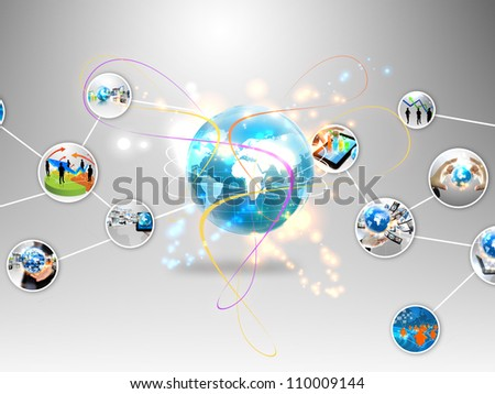 business world - stock photo