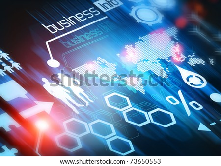Business World Connected. Conceptual illustration design. - stock photo