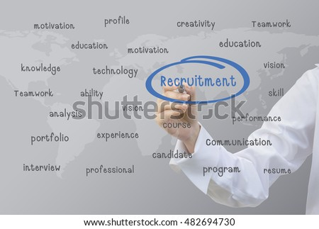 Business writing Recruitment Concept
