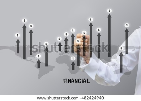 Business writing World Economy Concept