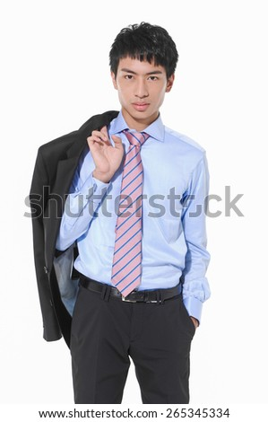 Business young man of Asian, portrait isolated  - stock photo