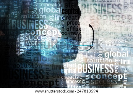 Businessman Abstract Background
